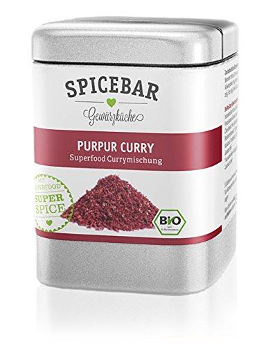 Spicebar PurPur Curry, Superfood Currymischung mit Chia und Acai, Curry-Gewürz, Bio (1 x 60g)
