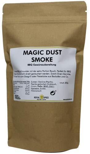 Royal Spice Magic Dust Smoke BBQ Rub - 300g Beutel - Gewürzmischung mit geräucherter Paprika und Rauch für unwiderstehlichen Geschmack zum Barbeque