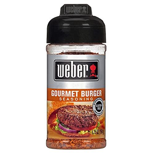 Weber Gourmet-Burger-Gewürz 164 g (1 Packung), MNG-frei, glutenfrei, natürliche Aromen für Steak, Geflügel, Gemüse und Burger