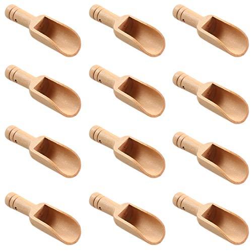 35 Stück Mini Holzschaufeln Gewürzschaufel für Salz Süßigkeiten Kaffee Tee Gewürze Zucker Marmelade Badesalz