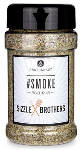 Ankerkraut #Smoke, BBQ Rub Gewürzmischung der Sizzle Brothers für Fisch, Geflügel, Schwein und Rind, 210g im Streuer