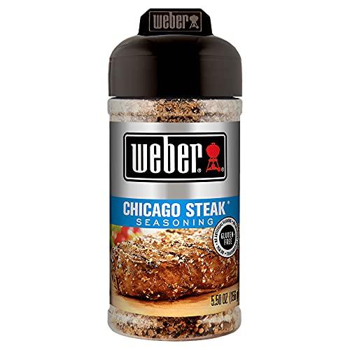 Weber Chicago-Steak-Gewürz, 156 g (1 Packung), ohne MNG, natürliches Aroma, Echte Zutaten, für den Meisterkoch Zuhause, für Steak, Geflügel und Gemüse