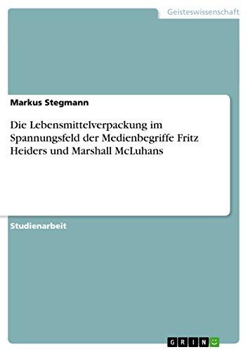 Die Lebensmittelverpackung im Spannungsfeld der Medienbegriffe Fritz Heiders und Marshall McLuhans