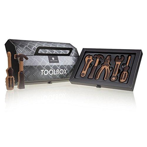Toolbox - Werkzeug aus Schokolade  Schokoladenwerkzeug   Schokolade Geschenk   Geschenk für Männer   Geschenk Vatertag   Schokolade Werkzeugkasten   Geschenk für papa   Bastler geschenk   Alkoholfrei