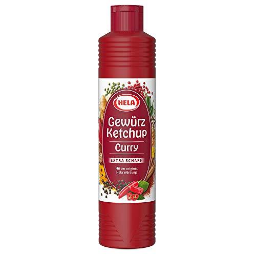 Hela Curry Gewürz Ketchup extra hot (1 x 800 ml Flasche)