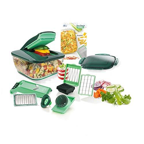Genius Nicer Dicer Chef (15 Teile)   Obstschneider, Gemüseschneider, Zwiebelschneider, Zerkleinerer, Gemüsehobel, Mandoline