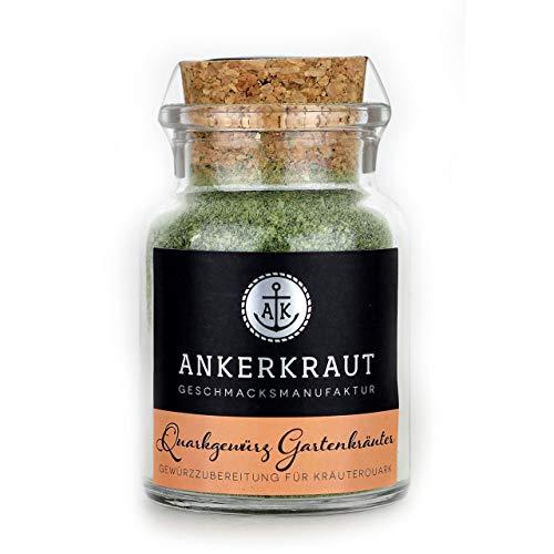 Ankerkraut Quarkgewürz Garten, Gewürzmischung für Kräuterquark, Quark-Dip selber machen, 55g im Korkenglas
