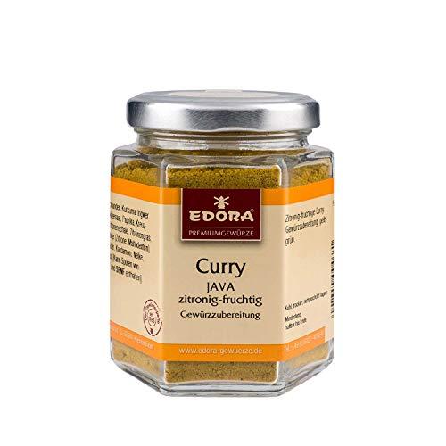 Premium Qualität Gewürz EDORA Schraubglas Curry Java Zitronig-fruchtige Gewürzzubereitung 70 Gramm