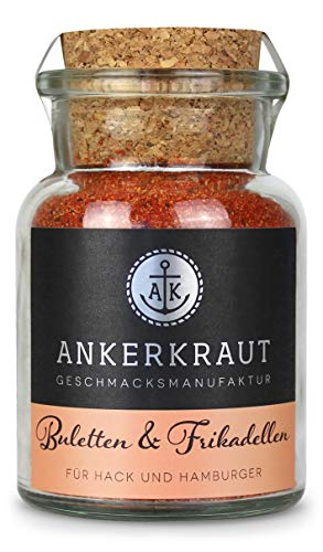 Ankerkraut Buletten & Fleischpflanzerl, Gewürzmischung für Buletten und Frikadellen, 100g im Korkenglas