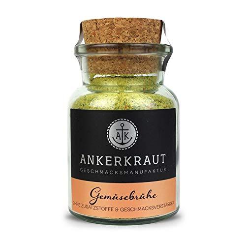 Ankerkraut Gemüsebrühe, ohne Geschmacksverstärker, ohne Zucker, 90g im Korkenglas, Mischung würzender Zutaten für Brühe