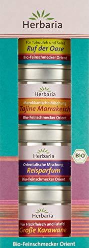 Herbaria 4er Set Orient BIO: Ruf der Oase 40g, Tajine Marrakesch 40g, Reisparfum 30g, Gr. Karawane 35g, 1er Pack (1 x 145 g)