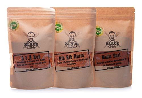 O.F.A Rub + Magic Dust + Rib Rib Hurra - von Klaus grillt.... (3 x 250 g Beutel)