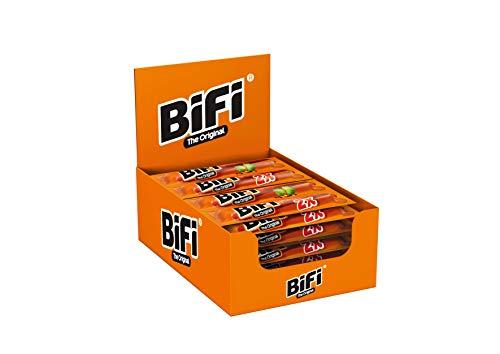 BiFi Original – Twinpack, 18er Pack (18 x 2 x 18.5 g) – herzhafter Salami Fleischsnack – geräucherte Mini Wurst als Snack To Go