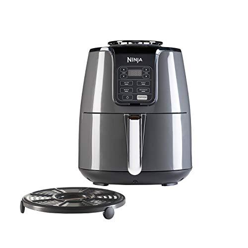 Ninja Air Fryer [AF100EU], Black Heißluftfritteuse mit präziser Temperaturregelung, Fritteuse ohne Öl und Fett
