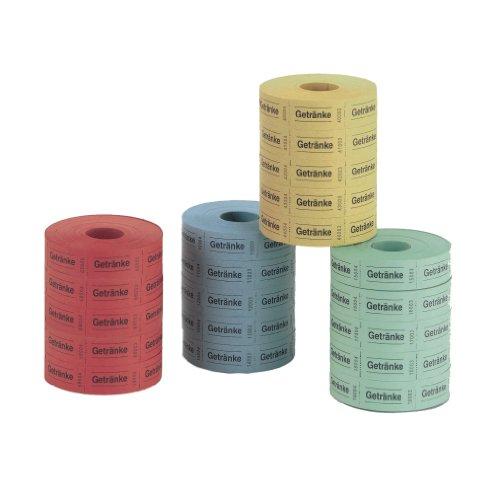 Herlitz 791780 Getränkemarken, 5x1000 Abrisse (Farben sortiert)
