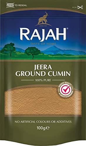 Rajah Jeera Ground Cumin – Gemahlener Kreuzkümmel mit starkem Aroma und authentischem Geschmack – 1 x 100 g