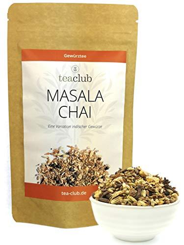 Masala Chai Tee Pur Gewürzmischung Lose 100g, Indische Gewürze für Chai-Latte, 100% Natürlich nicht Aromatisiert - TeaClub