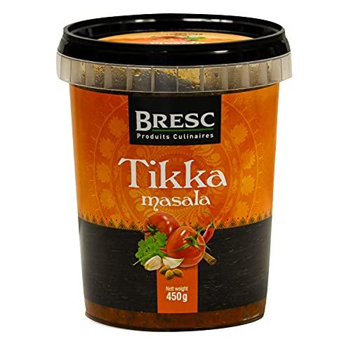 Bresc Tikka Masala - 1x 450g - Spice Mix vegane indische Gewürzmischung für authentisches Kochen passt zu Chicken Tikka Masala Gemüse-Reis-Gerichte, pikanter kräftiger Geschmack