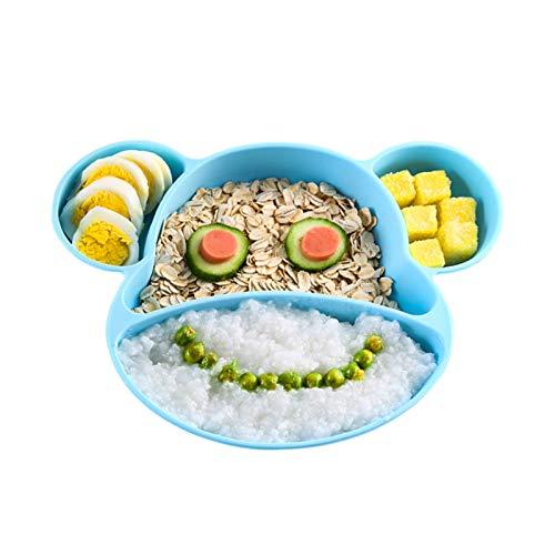 YOOFOSS Baby Teller Silikon Schalen Baby Kinder Tischset Rutschfest Babyteller mit Saugnäpf BPA-frei Babyteller Mikrowelle und Spülmaschinenfest für die Meisten Hochstuhl Tabletts