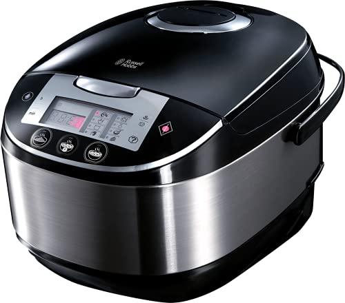 Russell Hobbs Multicooker 5,0l (digitales Display + Timer), 11 Kochprogramme (Schongarer, Dampfgarer, Slow Cooker, Reiskocher, Joghurtbereiter etc.), Anti-Kondensations-Deckel, Cook@Home 21850-56