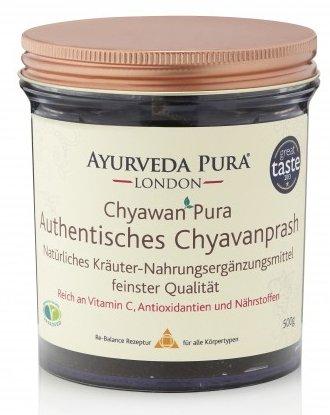 Chyavanprash Amla Fruchtmus von Ayurveda Pura London 2er Pack (2 x 500g Gläser) – Amalaki indische Stachelbeere mit Ayurveda Gewürze Konfitüre Brotaufstrich - Multivitamin Vitamin C Nahrungsergänzung