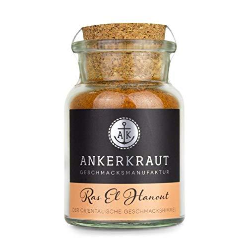 Ankerkraut Ras EL Hanout Marokkanische Gewürzmischung Gewürzzubereitung im Korkenglas 65 g
