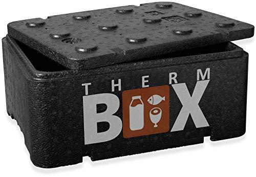 THERM BOX Thermobehälter Klein 12-Liter Isolierbox Thermobox Warmhaltebox Kühlbox Styroporbox 12BL Innen: 36x26x13cm Wiederverwendbar
