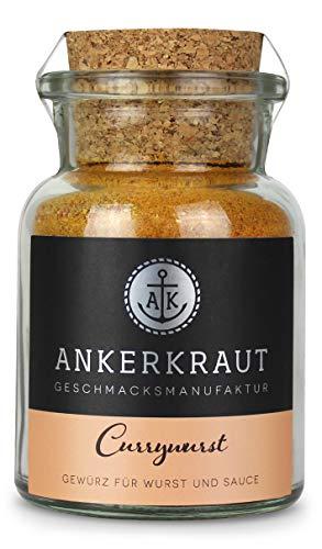 Ankerkraut Currywurst, 90g im Korkenglas, Gewürzmischung zum Anmischen selbstgemachter Currywurst-Soße oder als Topping