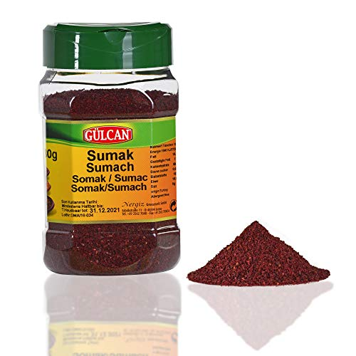 Sumach Gewürz 180g Edle & Praktische Kräuter Box mit Dosier Öffnungen Orientalisches Sumak Gewürz Beliebtes Essigbaumgewürz Hochwertig dosiert
