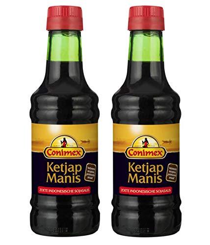 Conimex - Ketjap Manis - Süße Indonesische Sojasauce - Gewürze - 2 x 250 ml