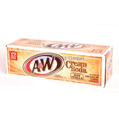A&W Cream Soda 12oz (355mL) - 12 Pack inkl. 3,00 Euro DPG-Pfand
