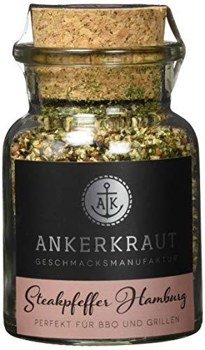 Ankerkraut Steakpfeffer Hamburg, Ankerkraut Hausmischung, grober Steakhouse-Pfeffer, 80g im Korkenglas