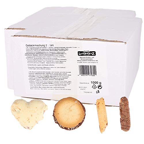 Genussleben Großpackung Kekse gemischt Gebäckmischung Keksmischung Schokokekse Plätzchen, Bruchware, 2kg Beutel