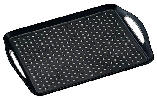 KESPER 77201 Serviertablett aus Kunststoff, schwarz/Tablett/Frühstückstablett