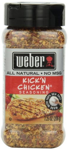 Weber Seasoning, Kick 'N Chicken, 7.25 Ounce