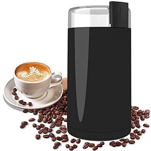 Kaffeemühle, Wancle Elektrische Kaffemühle Kaffeebohnen für Kaffeebohnen, Kräuter, Nüsse, Körner, mit Reinigungsbürste