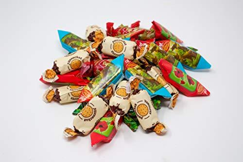 Russische Schokolade Konfekt Pralinen Mischung - 5 verschiedene Süssigkeiten Sorten zum Entdecken und Genießen - Russian-Box