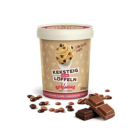 Original Spooning Cookie Dough® Keksteig zum Löffeln / Keksteigmischung – Einzelware – 1x 215G – Chocolate Chips