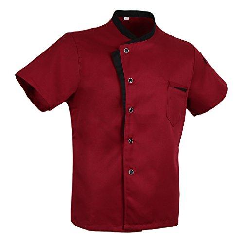 oshhni Ball Hotel Kitchen Restaurant Kurzarm Unisex Chef Uniform