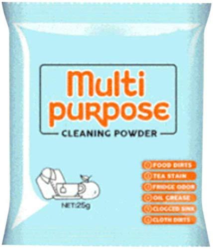 Fettreiniger Pulverreiniger, multifunktionales Reinigungspulver Küchenkleidung Mehrzweck-Fleckenentferner zum Reinigen von Küchenöl/Töpfen/Geruchsbeseitigung (25G/Eingesackt)
