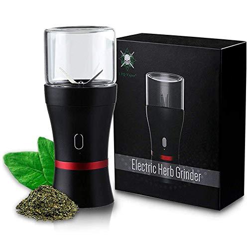 LTQ Elektrische Kräuter- und Gewürzemühle,Dry Herb Grinder mit Eingebautes 1100-mAh-Akku,2 * 50ml Glasspeichertank