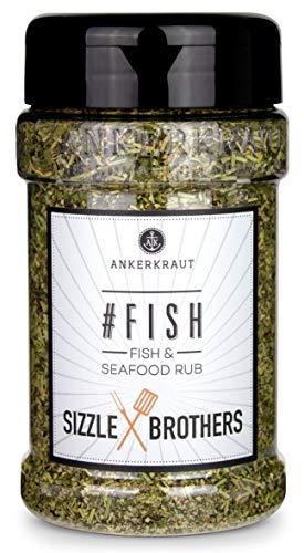 Ankerkraut #Fish, Gewürzmischung für Fisch, Seafood Rub von den Sizzle Brothers, 130g im Streuer