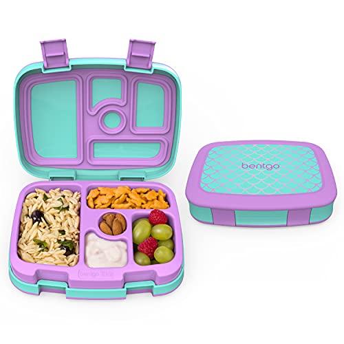 Bentgo Kids Prints Lunchbox für Kinder im Bento-Stil, auslaufsicher, 5 Fächer, ideal für Portionsgrößen für 3- bis 7-jährige Kinder, BPA-freie und lebensmittelechte Materialien