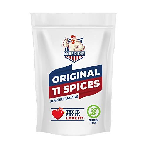 Major-Chicken 'ORIGINAL 11 SPICES' - Chicken Gewürzpanade / Hähnchen Marinade 220g - 11 unglaubliche Gewürze für den Original Fried Chicken Geschmack - Paniermischung für Chicken Wings, Hot Wings uvm