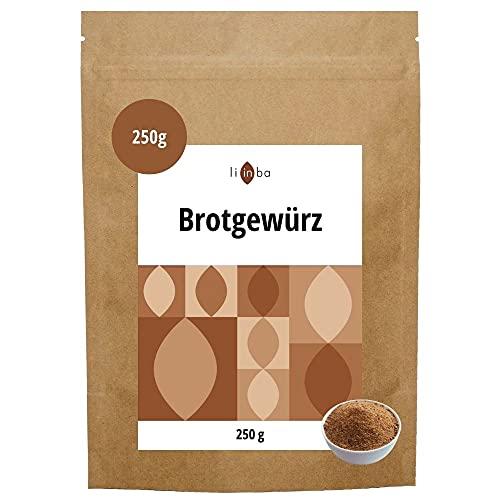 BROTGEWÜRZ mit Koriander, Kümmel & Fenchel gemahlen • 250g herzhafte Brot Gewürze • Brotgewürzmischung bayerische Art • Gewürzmischung ohne Salz • in Deutschland abgefüllt