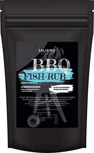 250g Grillfisch Gewürzsalz, BBQ Bratfisch Gewürz, ausgewogene Aromen, auch für Pfannengerichte, Gewürzmischung für Fisch, Fischgewürz | Saliamo