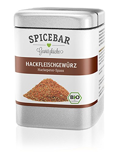 Spicebar Hackfleischgewürz Hackepeterspass, Hack und Mett Gewürz, Bio (1 x 80g)