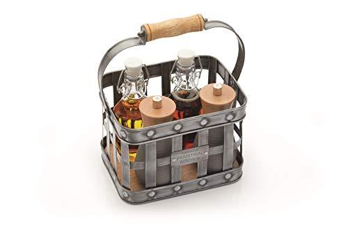 KitchenCraft INDCONDHOLD Gewürzhalter, Metallisch/Braun