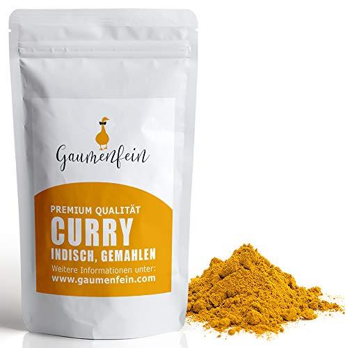 GAUMENFEIN® Indisches Curry Pulver Mild - Gewürzmischung - 100% natürliche Premium Qualität - 250g