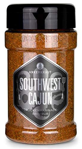 Ankerkraut Southwest Cajun, BBQ Rub Gewürzmischung zum Zubereiten von Gumbos und Jambalaya Gerichten, 170g im Streuer